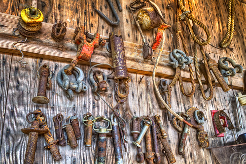 wood metal barn farm tools equipment hdr hdri ravenwood photomatixpro tonemap nikcolorefex shadowmapping robhanson promotecontrol robhansonphotographycom