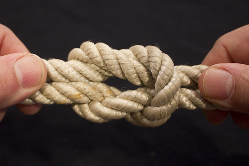 beautiful [but deadly] square knot