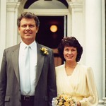 Clifford & Ann Patricia Griffiths. Wedding in Epsom, Surrey 1987