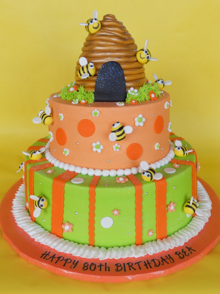 Prime Beehive Bumble Bee Birthday Cake A Photo On Flickriver Personalised Birthday Cards Paralily Jamesorg