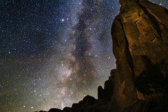 Milky Way and Park Avenue Arches National Park