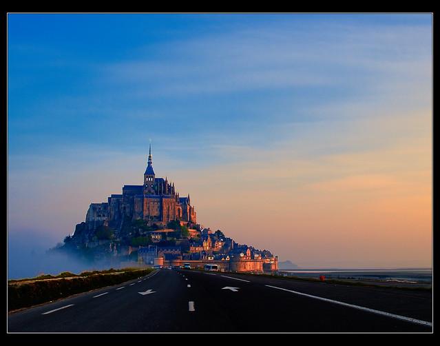 Road to Mont Saint Michel