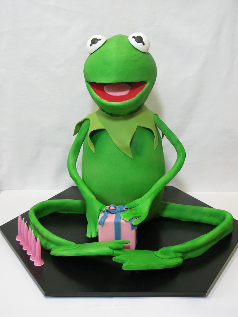 Awe Inspiring Kermit The Frog Cake Kermit The Frog Birthday Cake This I Flickr Funny Birthday Cards Online Sheoxdamsfinfo