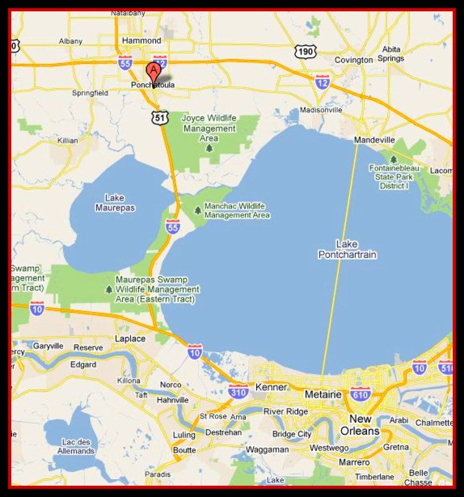New orleans to Hammond map   Here is a map showing the area …   Flickr