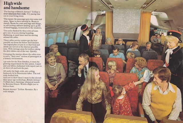 British Airways Tristar brochure -centre