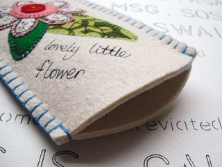 Little Flower and Leaf Sunglasses Case