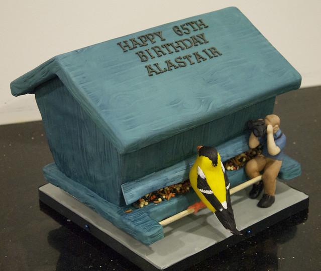 bird house 65th birthday cake toronto