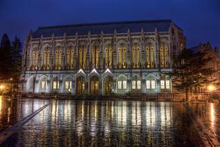 University of Washington Library at night | by yukmike