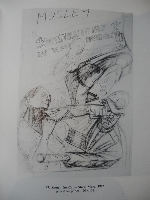 Sketch of Cable Street  Mural 1982