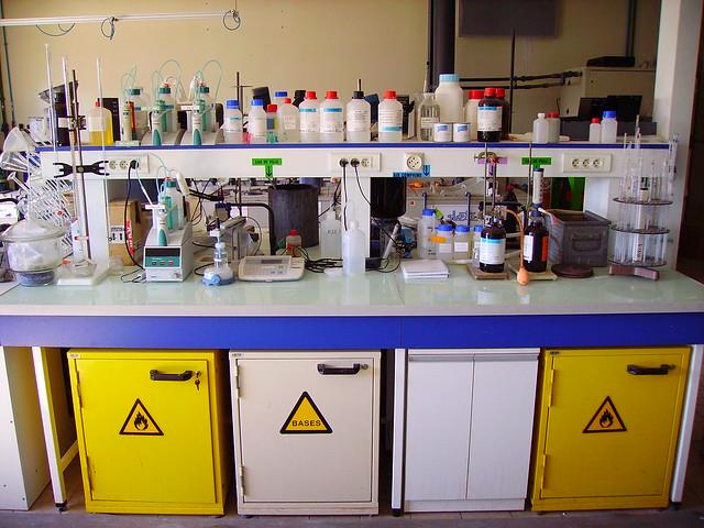 Chemistry laboratory, detail