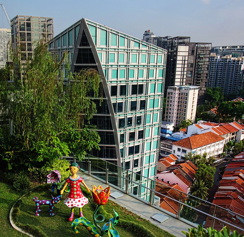 Orchard Gateway @ Emerald – a view from roof terrace of Orchard Central   by williamcho