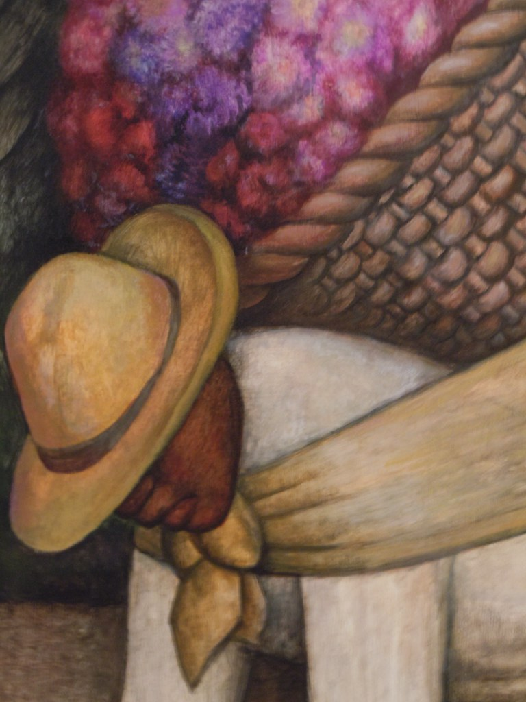 Diego Rivera The Flower Carrier 1935 Closeup Of Detail Flickr