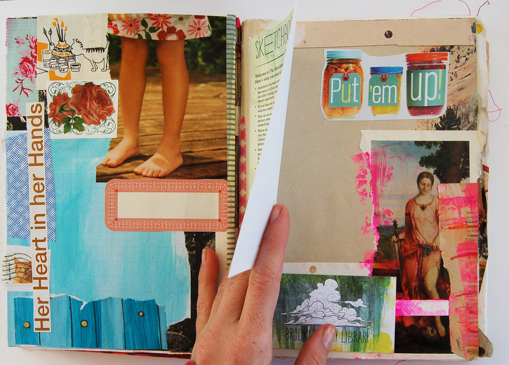 Flip the rules - art journal page by iHanna