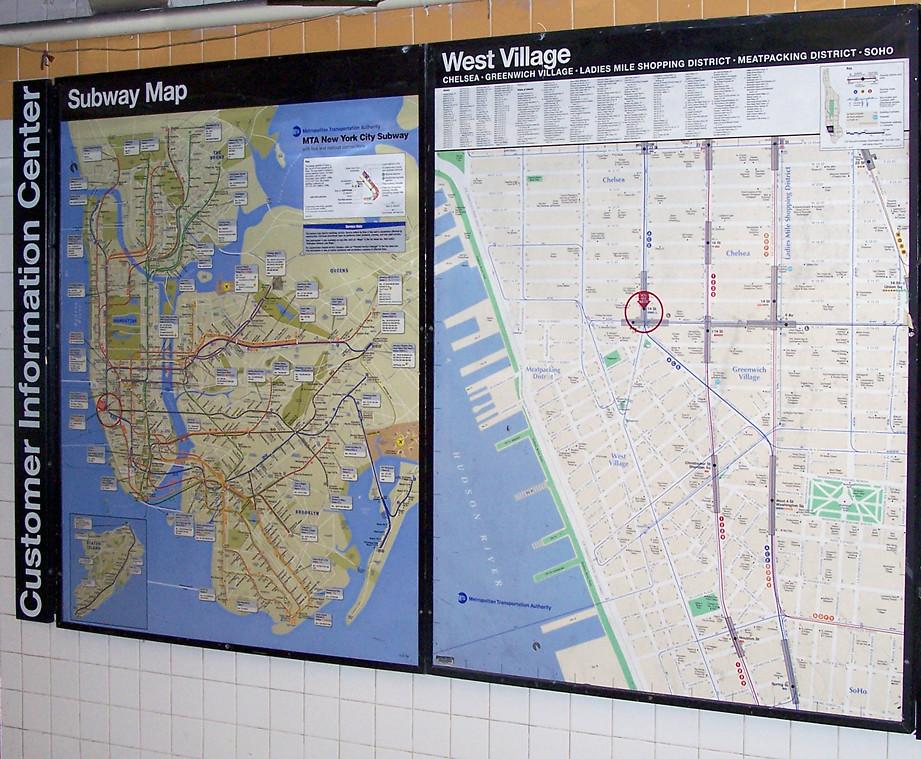 Subway Map Greenwich Village.Nyc Subway Neighborhood Map West Village New York City Sub Flickr