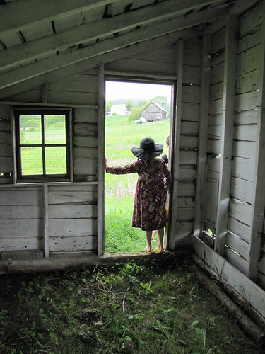 Liz in the painting shed | by Kathryn Cramer