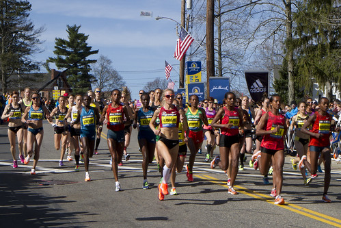 2014 Boston Marathon Elite Women | by Kinchan1