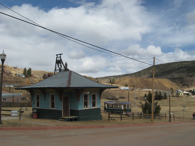Station and Trolley in Victor, CO