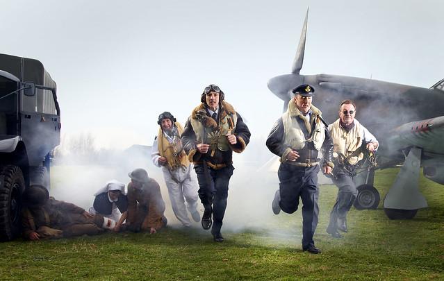 Under Attack. Battle of Britain shoot.