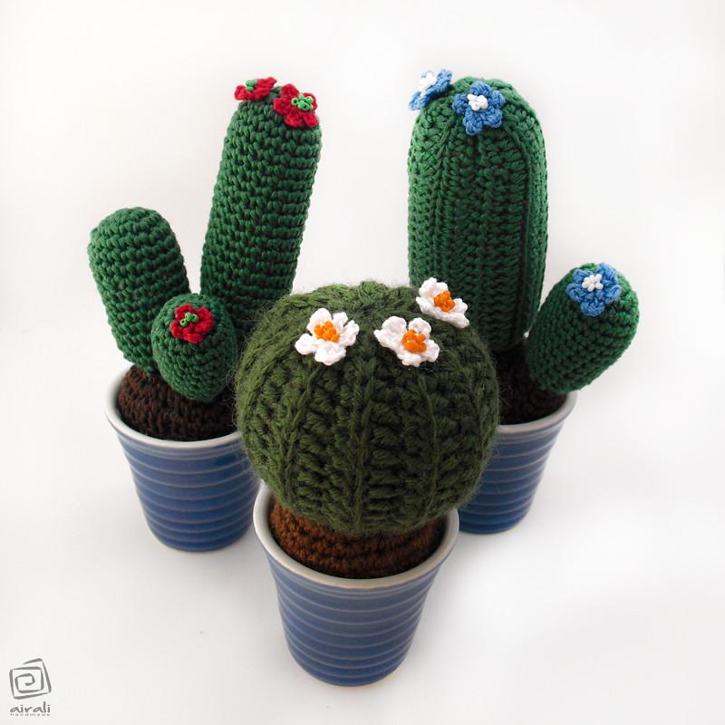 Blooming cactus amigurumi pattern - Amigurumi Today | 800x800