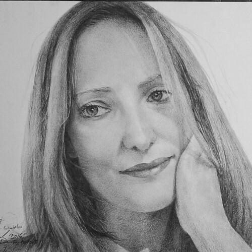 "September 2016, ""Susana"". Drawing portrait.   by TONI KARTANFLAT"