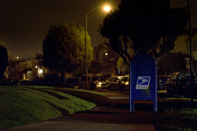 USPS mailbox in outer richmond, san francisco 2011