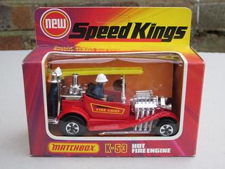 Matchbox SpeedKings Hot Rod Fire Engine 1970's Retro Toy