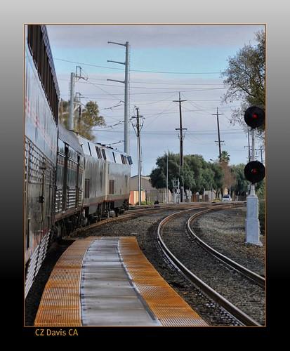 california railroad travel station train amtrak davis eastbound californiazephyr