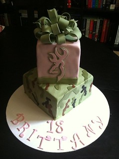 Fantastic Brittanys Pink Camo Birthday Cake I Received Several O Flickr Funny Birthday Cards Online Overcheapnameinfo