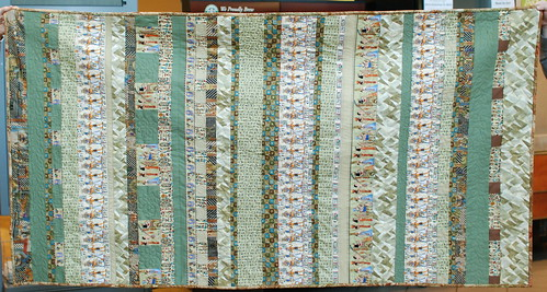 As soon as I fix a little mistake on the back, Papyrus is ready to wash and head to its forever home.  Full info: domesticat.net/quilts/papyrus
