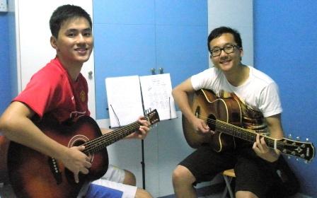 Adult guitar lessons Singapore Caleb