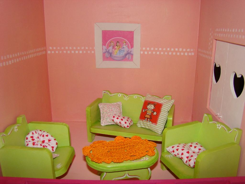 Muebles Casita De Muñecas Fibrofacil Pintado Con Acrilico Flickr