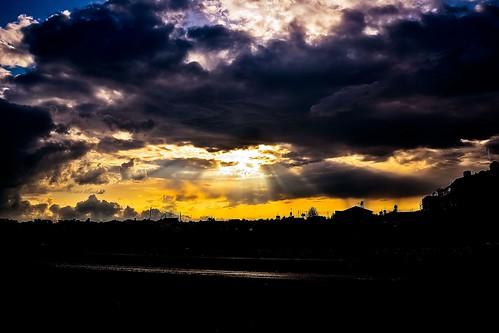 light sun clouds dark shower nikon shadows sunny rays landskape d3100