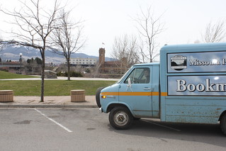 Bookmobile by the Clark Fork