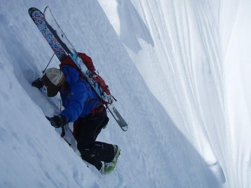 Sun, 2011-05-01 11:29 - Mt Philistine..North Face...skier Mike Traslin...photo Andy Traslin