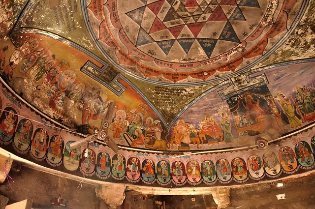 Ceiling of Temple of Harsiddhi Mata, Ujjain