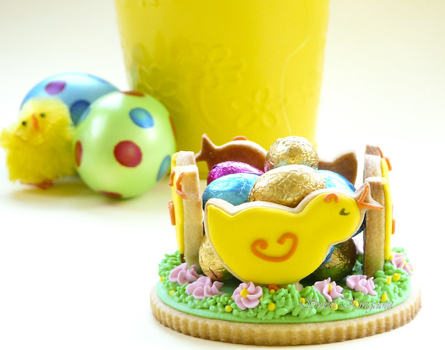 Easter cookies and chocolate eggs