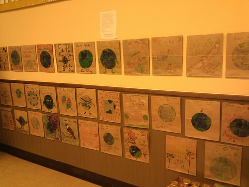 Earth Day Grocery Bags decorated by students from Arbor Heights Elementary in Seattle!   by mahlness