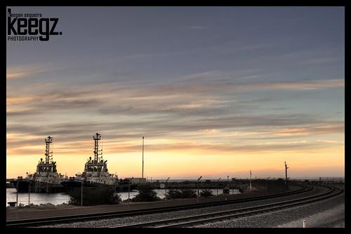 sunset sea water port boat australia western tugboat geraldton tarcoola wajarri