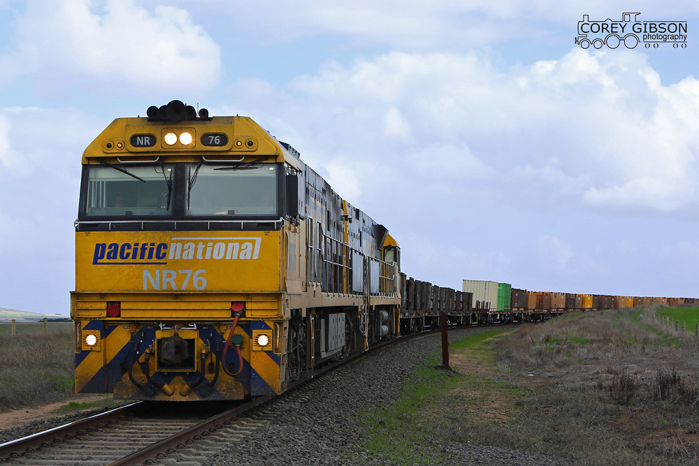 NR76 & NR88 with the PW4 steelie about to cross the Hamilton Highway at Murgheboluc by Corey Gibson