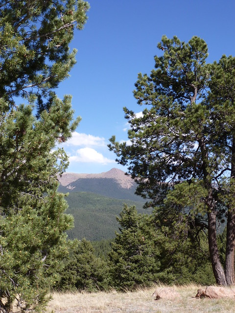 Back of Pikes Peak at Mueller State Park
