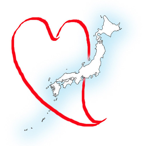 japan-map-heart | by kitmouse