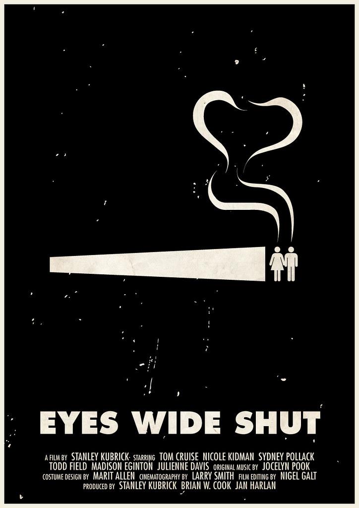 'Eyes Wide Shut' pictogram movie poster