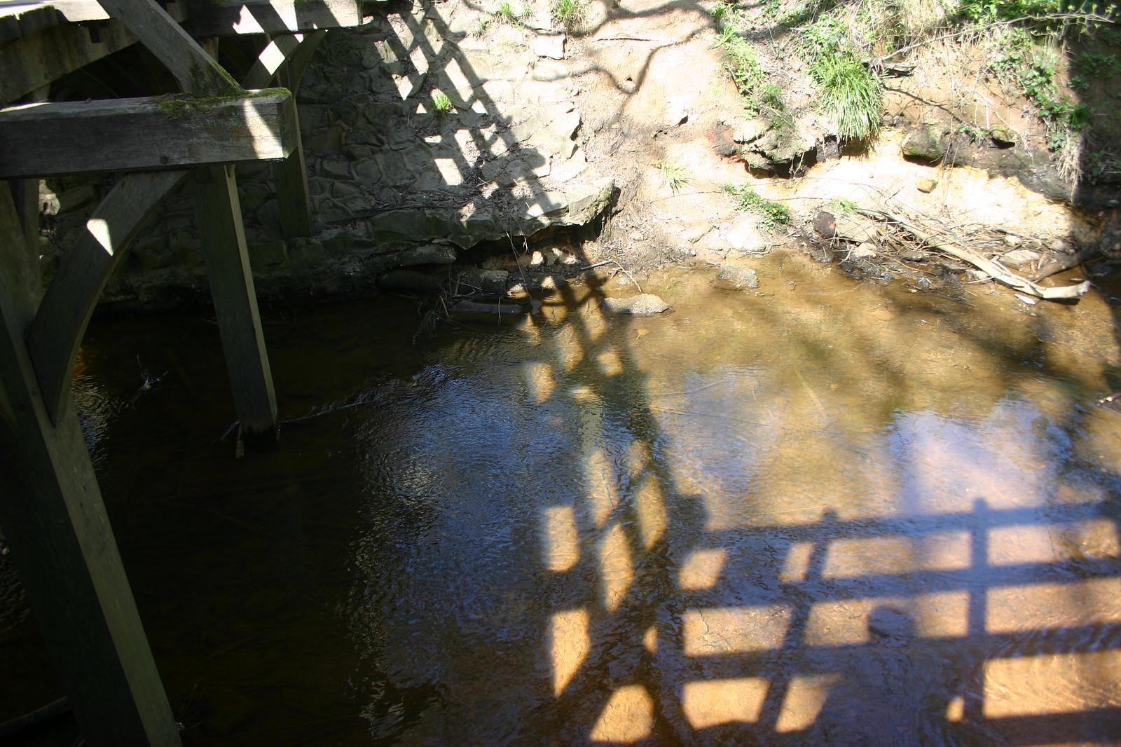 The shadow of the bridge