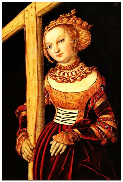 Lucas Cranach - St Helena with the Cross (1525) - Cincinnati Art Museum