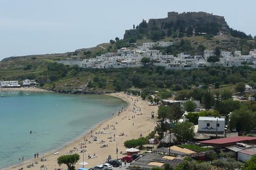 Lindos Acropolis and Beach, Rhodes | by Paul Stephenson