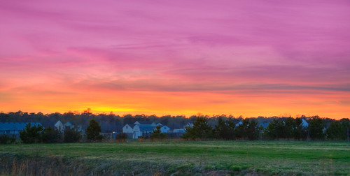 sunset cloudy northcarolina