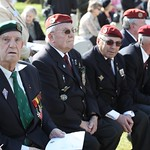 110419 French veterans of the Normandy campaign attended Flight Lieutenant Henry %u2018Lacy%u2019 Smith%u2019s reinterment ceremony at the Ranville War Cemetery