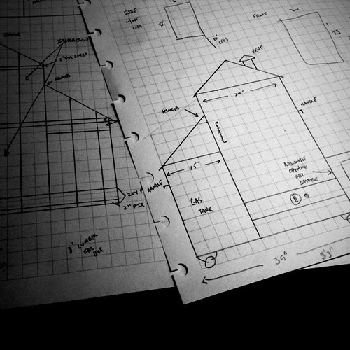 Researching and sketching out modifications to my smokehouse.   @myen #DavidsKitchen | by David Reber's Hammer Photography