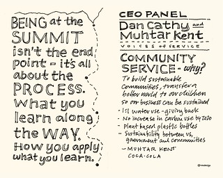 Chick-Fil-A Leadercast Sketchnotes 27-28 - Alison Levine / Dan Cathy & Muhtar Kent | by Mike Rohde