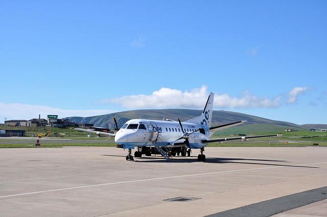 Flight to Kirwall Sumburgh Airport Shetland